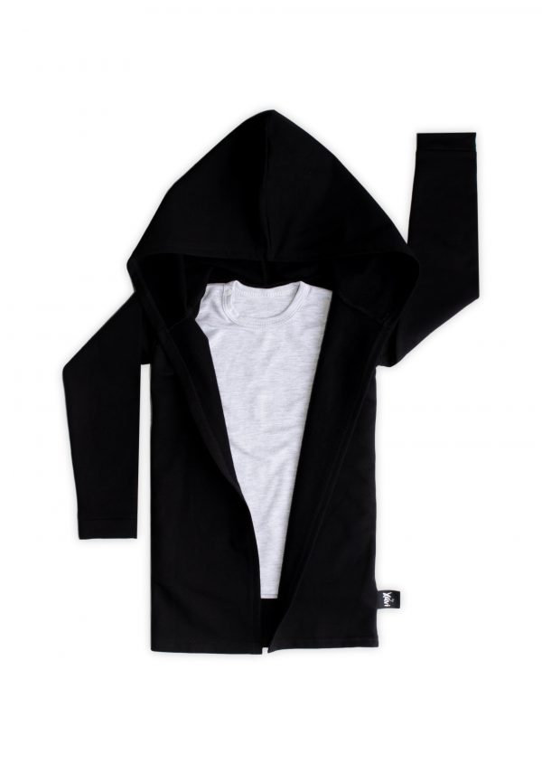 Extra lang zwart vest